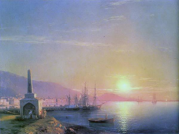 Айвазовский, Иван Константинович. Восход солнца в Феодосии. 1855