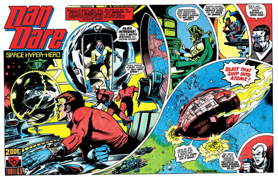 Dan Dare comic strip from 1970s